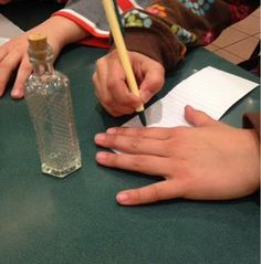 Message in a bottle; for grief/loss Behavioral Interventions- A nice memory making activity, emotion releaser Grief Activities, Activities For Teens, Counseling Activities, Therapy Activities, Group Counseling, Therapy Tools, Art Therapy, Play Therapy