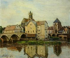 Moret sur Loing, Morning by Alfred Sisley   Medium: oil on canvas