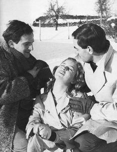 "RIP Marie Dubois (here on the set of ""Tirez sur le pianiste"" with François Truffaut & Charles Aznavour)"