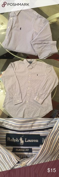 Ralph Lauren polo button down classic fit Like new condition. No stains! Polo by Ralph Lauren Shirts Casual Button Down Shirts