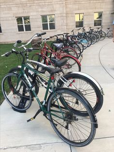 This is a bike rack right outside of Jewell Hall. I didn't get a bike this year, due to the fact of not wanting the responsibility. I wonder how many people actually have bikes on campus? Do you think more people have bikes or cars?