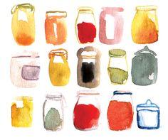 #metamundus, #watercolors, #food