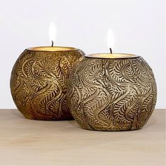 Wood & Metal Ball Tealight Holders - World Market