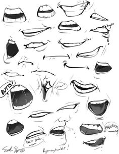 http://rynnay.tumblr.com/post/56393078002/mouths-are-fun-to-draw-most-of-these-are-my-own