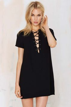 Runnin' with the Devil Lace Up Dress | Shop Clothes at Nasty Gal!