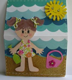Cricut Everyday Paper Dolls - beach, sand pail & shovel