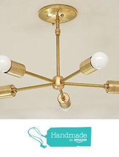 5 Arm Brass Gold Sputnik Style Mid Century Modern Inspired Starburst Chandelier UL Listed from Illuminate Vintage https://www.amazon.com/dp/B017L22P1G/ref=hnd_sw_r_pi_dp_S3ndyb8S10JBP #handmadeatamazon