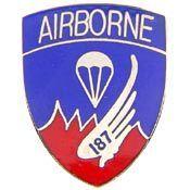 U.S. Army 187th Airborne pin - Meach's Military Memorabilia & More