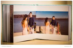 PSK team designed the photo album for this military couple after their portrait session.