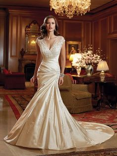 """From the designer: """" WEDDING DRESSES by Sophia Tolli, these bridal gowns provide both classic and couture designs including strapless ball gowns, A-line dresses Wedding Dresses 2014, Wedding Dress Styles, Bridal Dresses, Wedding Gowns, Bridesmaid Dresses, Wedding Blog, Lace Wedding, Wedding Simple, Dresses To Wear To A Wedding"""
