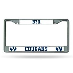 Brigham Young BYU Cougars Chrome License Plate Frame