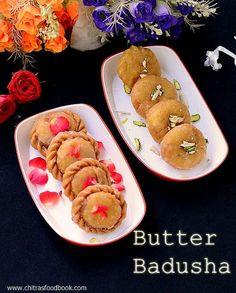 Butter badusha/Balushahi - The most popular Indian sweet.Perfect sweet for Diwali celebration !