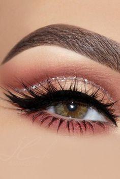 Eye makeup eyeliner , augen make-up eyeliner , eye-liner maquillage des yeux , delineador de Makeup Eye Looks, Eye Makeup Steps, Eye Makeup Art, Wedding Makeup Looks, Cute Makeup, Perfect Makeup, Makeup Inspo, Eyeshadow Makeup, Smokey Eye Makeup