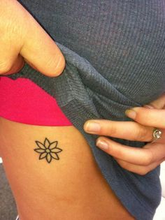 cute little flower tattoo - Google Search
