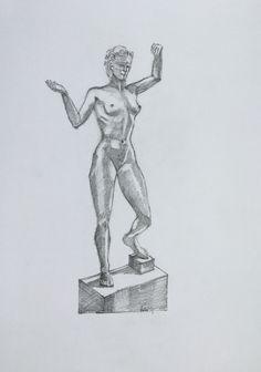 2016-06-13 Beeld Vrouw armen omhoog by Toine de Jong