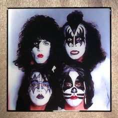 KISS Coaster Band Photo Ceramic Tile Paul Stanley Gene Simmons Ace Frehley Peter