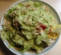This is an amazing salad that is an entire meal by itself. The family  absolutely loves it at any time of the year. The nice part is it's fast and  easy. I can get the veggies chopped in the amount of time it takes to boil  the water for the pasta. So if you like to mix things up a little, I hope  you'll give this salad a try.  Pesto Tortellini Salad      * iceberg lettuce, chopped     * cucumbers, diced     * tomatoes, chopped     * green pepper, chopped     * scallions, chopped…