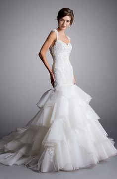 Eve Of Milady - Sweetheart Mermaid Gown in Beaded Lace