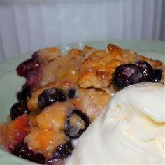 Huckleberry Peach Cobbler Recipe - Allrecipes.com