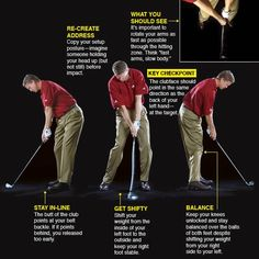 IMPACT Rotate the club through impact with your arms, not your hands If you've followed the plan to this point, quality impact will happen by itself, but knowing where you should be when you strike the ball is an important step in improving the other elements of your swing. Golf 7 R, Play Golf, Golf Clubs For Beginners, Golf Putting Tips, Best Golf Clubs, Golf Chipping, Chipping Tips, Think Fast, Golf Videos