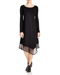 Eileen Fisher Asymmetric Lace Hem Dress | Bloomingdale's