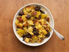 Corn bread dressing with Pancetta Apples and Mushrooms