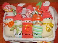 Windelbabys in der Box neutral Baby Geschenk Geburt Taufe
