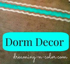 Dorm Room Decor by Dreamingincolor | It is almost time for back to school and it is time to start thinking of dorm decor. Something that shows your personality.