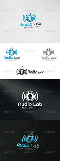 Audio Lab  Logo Template — Vector EPS #software #DTS • Available here → https://graphicriver.net/item/audio-lab-logo-template/8591130?ref=pxcr