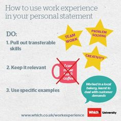 Things To Put In Your Personal Statement When Applying To