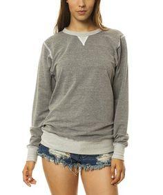 This Heather Gray Crewneck Sweatshirt is perfect! #zulilyfinds