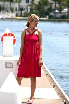 Sewing for Me – jersey beach dress   MADE