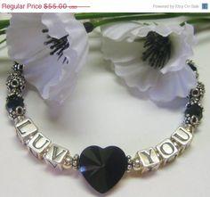 On Sale Love You Heart Bracelet by MyGemstoneDesigns on Etsy, $44.00