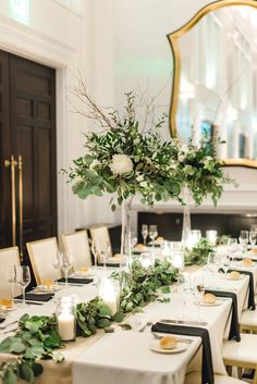 Modern, classic, greenery filled fall wedding at the Hotel Monaco in Pittsburgh PA