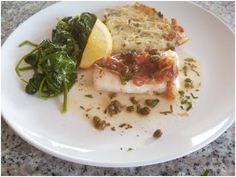 Pan-Roasted Cod with Prosciutto in a Lemon, White Wine & Caper Sauce
