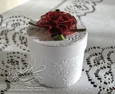 wedding favor Wedding Favor Boxes Ideas White with red rose
