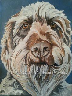 Gander the service dog Pet portrait Labradoodle Dog portrait Commission me Challman portraits on facebook