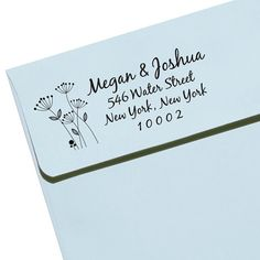 "Personalized Self Inking Rubber Stamp Wedding Gift, Return Address, Etsy Shop Labels ""Flower 3"""
