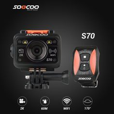 SOOCOO S70 2K Sports Action Camera 60M Waterproof Built-in WIFI with Watch Remote Control - http://confer.com.au/products/soocoo-s70-2k-sports-action-camera-60m-waterproof-built-in-wifi/
