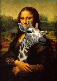 mona lisa giraffe Available as T-Shirts & Hoodies, Men's Apparels, Stickers, iPhone Cases, Samsung Galaxy Cases, Posters, Home Decors, Tote Bags, Pouches, Prints, Cards, Pencil Skirts, Scarves, Kids Clothes, iPad Cases, Laptop Skins, Drawstring Bags, Laptop Sleeves, and Stationeries