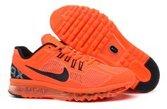Nike Air Max 2013 Orange Black Men's Shoes  #cheap #orange #shoes  cheap nike shoes