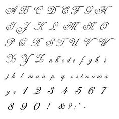 Old Cursive Alphabet  Images Of Cursive Letters Old English