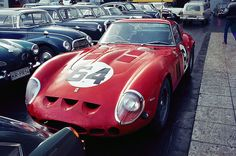 Parallel parking... 20 mil on the street. 250GTO.