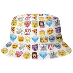 Womens Stylish Diamond Pizza Emoji 3D Print Bucket Hat White ($6.89) ❤ liked on Polyvore featuring accessories, hats, white, fishing hat, diamond hats, fisherman hat, pattern hats and print bucket hat