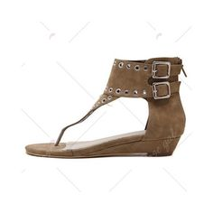 Dark Khaki Eyelets Zipper Sandals (11.840 HUF) ❤ liked on Polyvore featuring shoes, sandals, zip sandals, grommet shoes, zipper sandals, eyelets shoes and zipper shoes