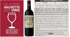 Notre 100% merlot Château Trocard Monrepos (Bordeaux Supérieur) tire également son épingle du jeu dans le Guide Hachette 2016 en décrochant une étoile avec son millésime 2012.  Our full merlot Bordeaux superieur Château Trocard Monrepos (2012 vintage) has been also awarded with a star in the last edition of Hachette French wines Guide #awesome !  #guidehachette #chateautrocardmonrepos #trocard #wine #hachette #bordeaux #vin #benoittrocard #merlot
