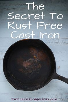 You can save your rusty cast iron pan! 4 simple steps!