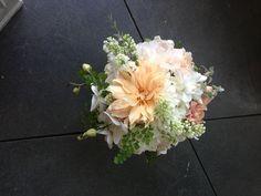 Dahlia, peony, lilac, gardenia, garden rose bouquet