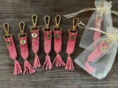 Items similar to Personalized Keychain // Handmade Bridal Party Gift // Macrame Bag Charm on Etsy Excited to share this item from my shop: Personalized Keychain // Handmade Bridal Party Gift // Macrame Bag Charm Diy Macrame Wall Hanging, Macrame Mirror, Macrame Art, Macrame Projects, Macrame Curtain, Gifts For Wedding Party, Party Gifts, Diy Gifts, Handmade Gifts