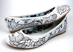 Star Bright | Community Post: 16 Pairs Of Creatively Sharpied Shoes From Pinterest